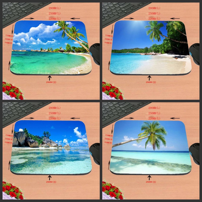 Top Selling Customized Beautiful Blue Sea Scenery Mouse Laptop Notebook Computer PC Mouse Mat Anti-slip Gaming Mousepad