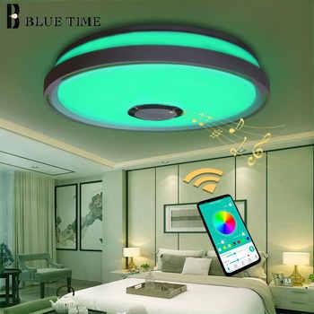 LED de musique plafonniers RGB APP contrôle plafonnier chambre 36W salon lumière lampara de techo plafonnier