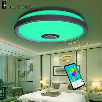 Luces de techo LED de música RGB APP control lámpara de techo dormitorio 36W sala de estar lampara de techo Luz de techo