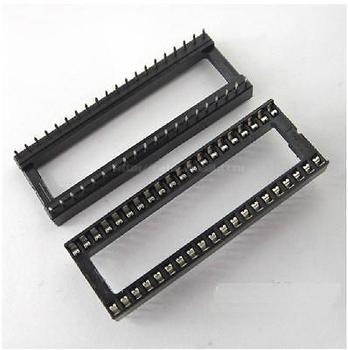цена на 10PCS 40-PIN 40PIN DIL DIP IC Socket PCB Mount Contor NEW GOOD QUALITY