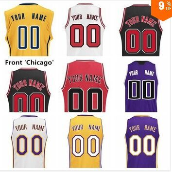 5d5518a9a2e Custom Basketball Jersey Any Name Any Number Personalized Yellow White Black  Red Purple Green Orange All Team Stitched Jersey