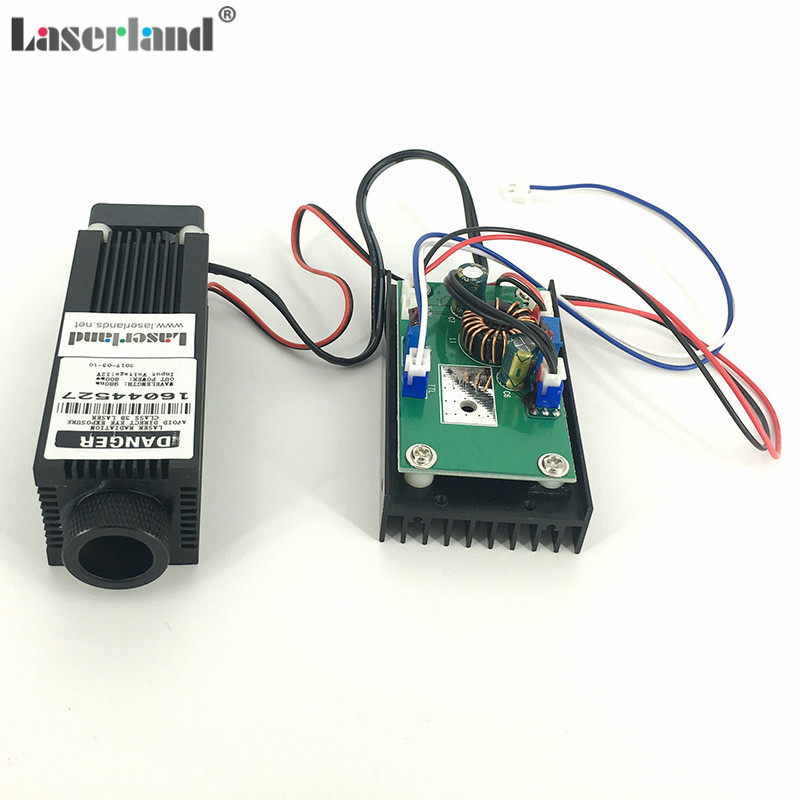 Laserland 3380 Focusable 0.8W 1.6W 2.4W 980nm IR Infrared Laser Diode Module w/TTL focusable 850nm 100mw ir infrared laser line module diode 22x77mm for wood cutting mechanical positioning