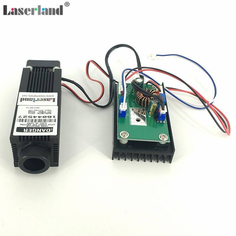 цена на Laserland 3380 Focusable 0.8W 1.6W 2.4W 980nm IR Infrared Laser Diode Module w/TTL