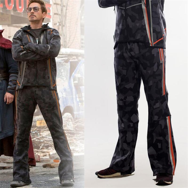 Image 2 - Movie The Avengers 3 Iron Man Winter Jacket Tony Same Style Cosplay Costumes Camouflage Star Love Top Coat Pants Fancy-in Movie & TV costumes from Novelty & Special Use