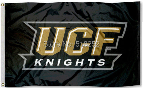 UCF Bannière Drapeau Central Floride Drapeau 3x5 FT 150X90 CM NCAA Bannière 100D Polyester drapeau Personnalisé oeillets 6038, livraison gratuite