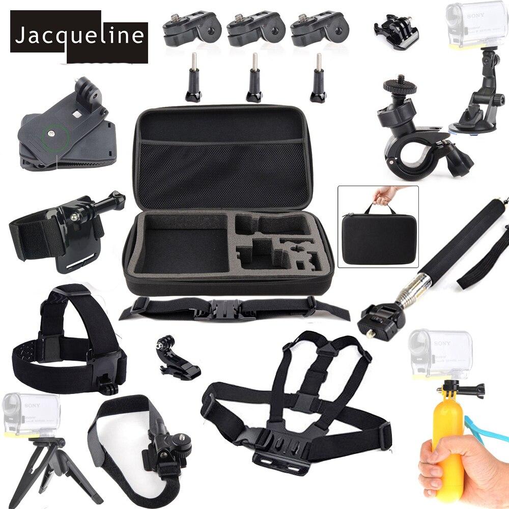 Jacqueline สำหรับจักรยานชุดอุปกรณ์เสริมสำหรับ Sony Action กีฬากล้อง HDR AS10 AS20 AS15 AS30V AS100V AS200V AS50 AZ1 X100V/ W 4 K-ใน เคสกล้องบันทึกภาพกีฬา จาก อุปกรณ์อิเล็กทรอนิกส์ บน AliExpress - 11.11_สิบเอ็ด สิบเอ็ดวันคนโสด 1