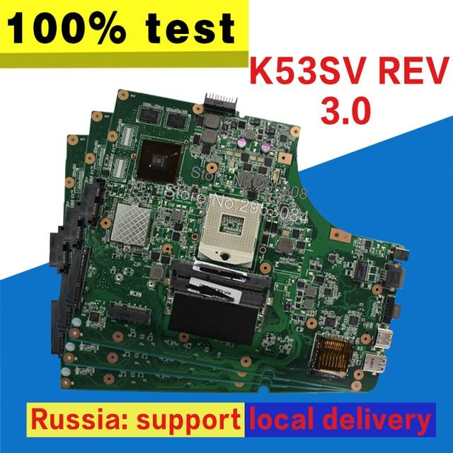 K53SV Bo Mạch Chủ TÁI BẢN 3.0/3.1 GT520M Cho ASUS K53SV k53S X53SV A53S K53Sj Laptop Bo mạch chủ K53SV Mainboard K53SV Bo Mạch Chủ