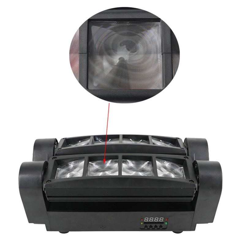 Image 4 - stage 8X10W Mini LED Spider Light DMX512 LED Moving Head Light RGBW LED Beam light Club Dj Disco projector-in Stage Lighting Effect from Lights & Lighting