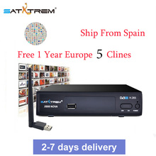 X800 Nova Satellite DVB-S2 HD FTA H.265 Satellite TV Receiver 1 Year HD 1080P Europe CCCAM Portugal Germany TV