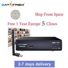 X800 Nova Satellite DVB-S2 HD H.265 Satellite TV Receiver 1 Year HD 1080P Europe CCCAM Portugal Germany TV