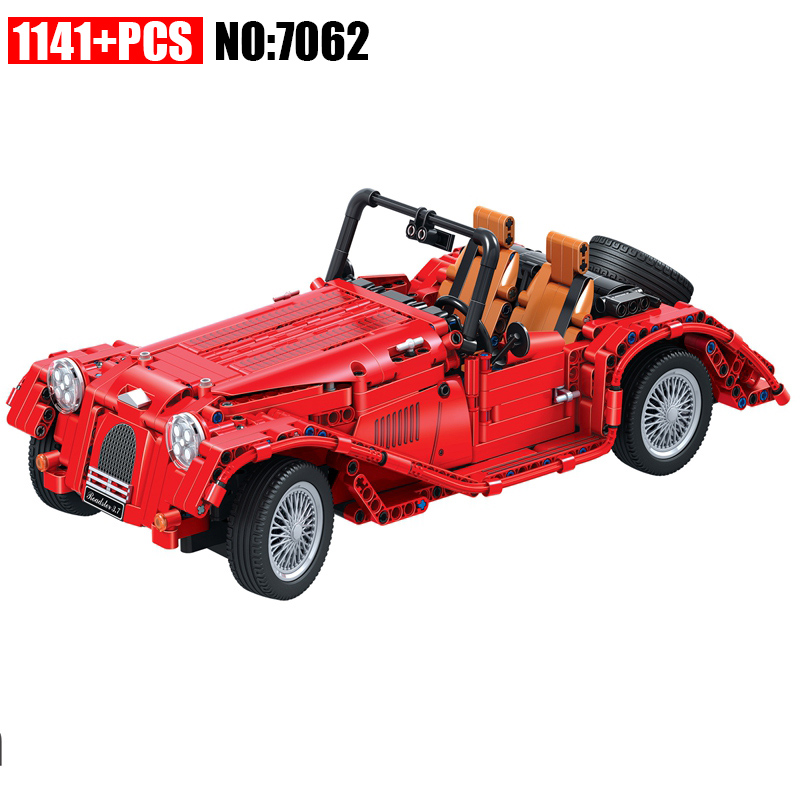 7062 Technic red convertible car building blocks DIY Educational bricks toys for children Christmas Gift solar electronic building blocks children s electrical science and education diy toys christmas gift