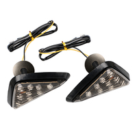 1 Pair 9 LED Turn Light Turn Signal Motorbike Indicator Smoked Color Triangle Piranha Light Motorcycle