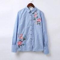 Полосатая рубашка с вышивкой Цена 918 руб. ($11.70) | 1 заказ Посмотреть