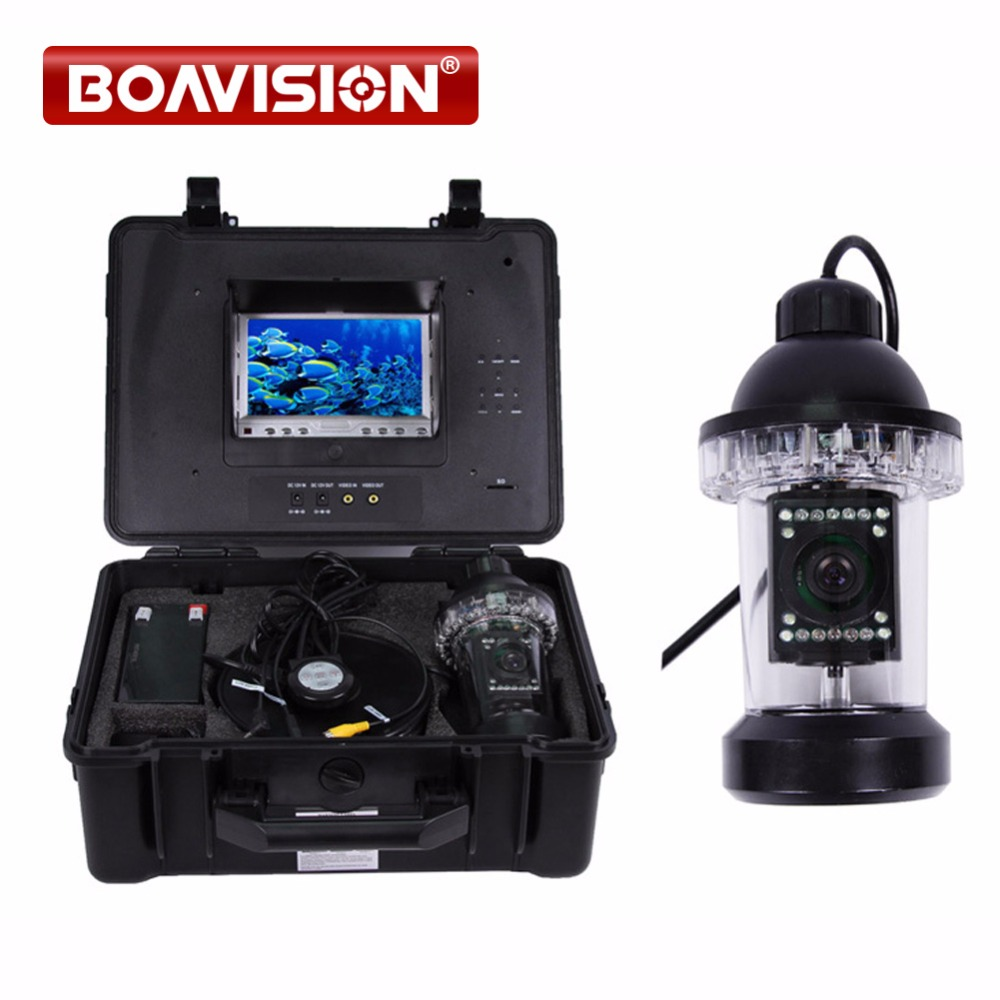 50 m Cavo Pesca Subacquea video Camera Fish Finder con 18 pz LED bianco Ruota 360 Gradi Built-In Registratore DVR 4 GB carta