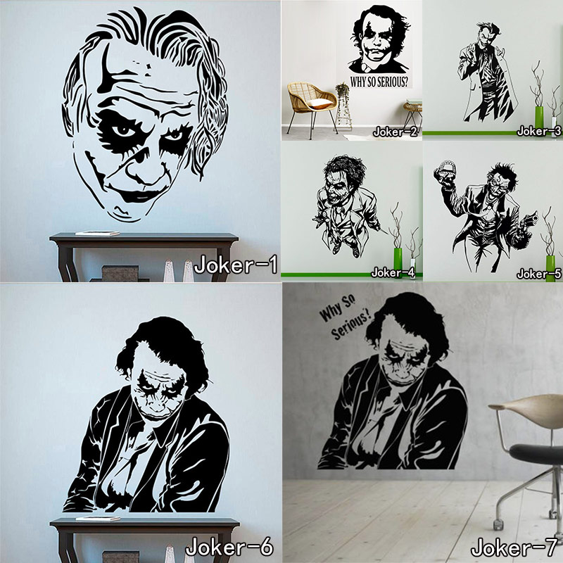 Joker Wall Sticker Why So Serious Wall Vinyl Decal Art Iconic Vinyl Wall Murals Home Decor Mural for Bedroom Sitting Room