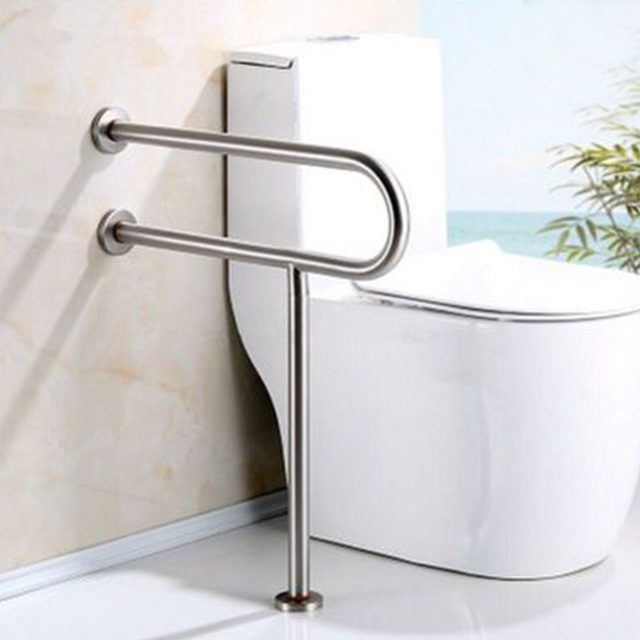 MAXSWAN Stainless Steel Disability Grab Rail Support Handle Bar Bathroom  Safety Aid Hand Rail Steel