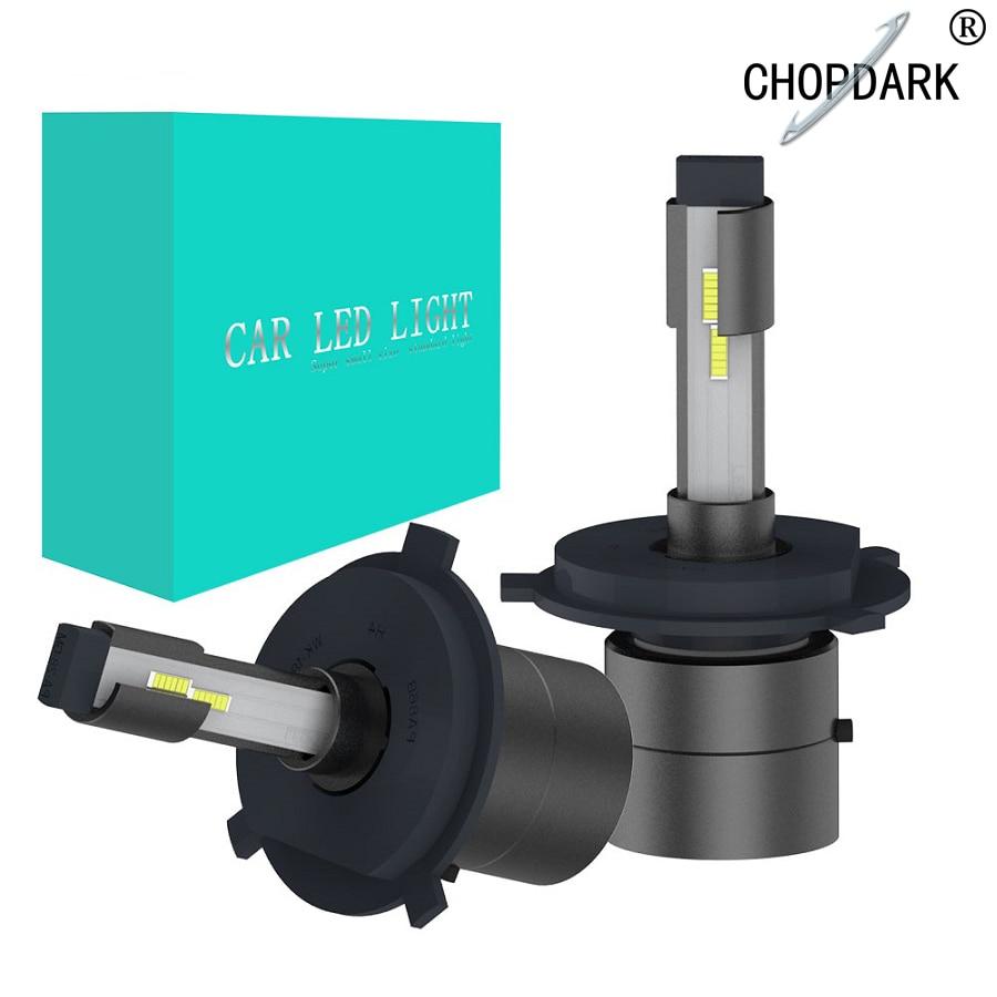 Car LED Headlight Bulbs Fog light without fan Super Mini 9000LM 40W 6000K 12V h4 h7