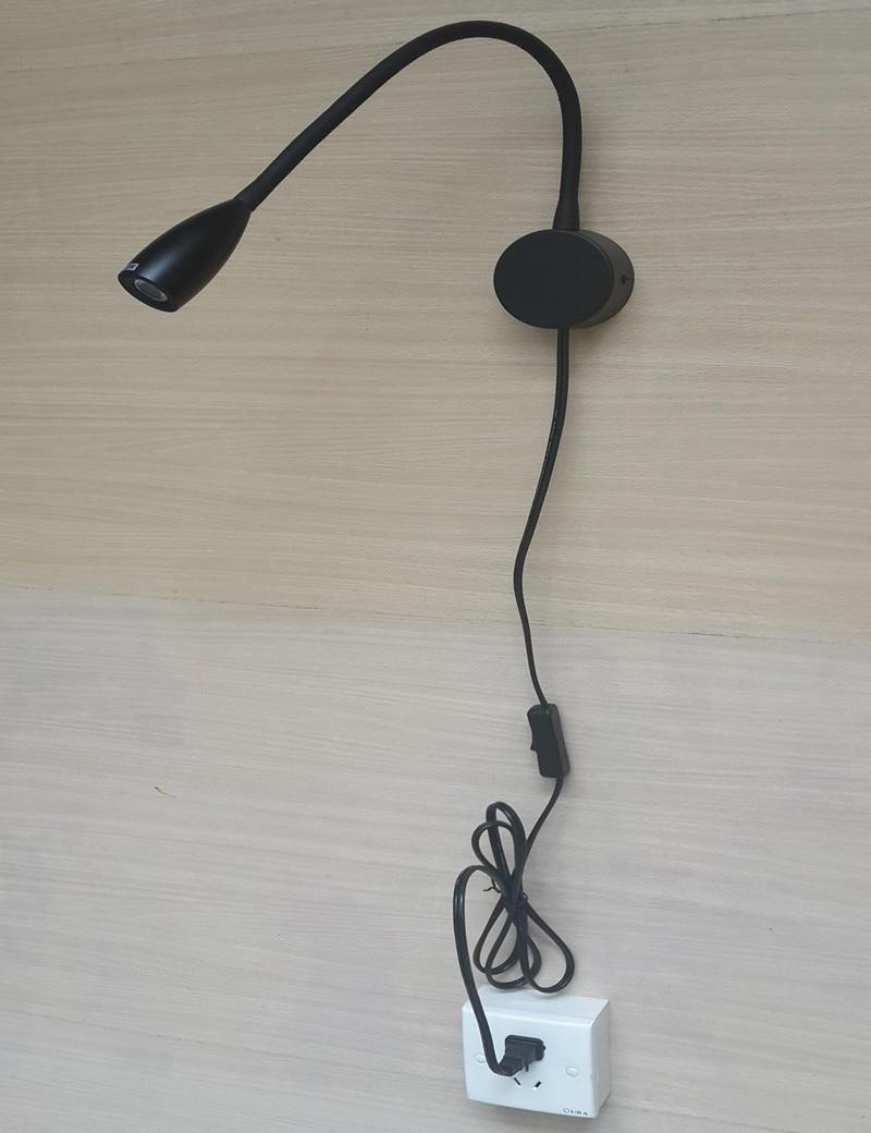 Topoch utikač u zidnoj bravi s prekidačima na kablovima 6 nogu - Unutarnja rasvjeta - Foto 3