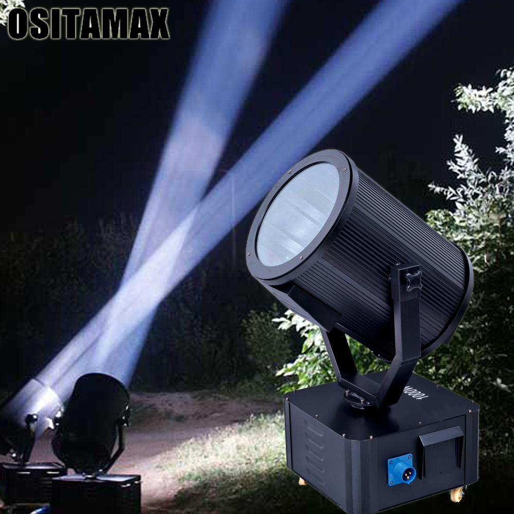 (Flightcase+light) High Quality Outdoor Light 4000w RGBWY Moving Beam Night Running Searchlights Search Light