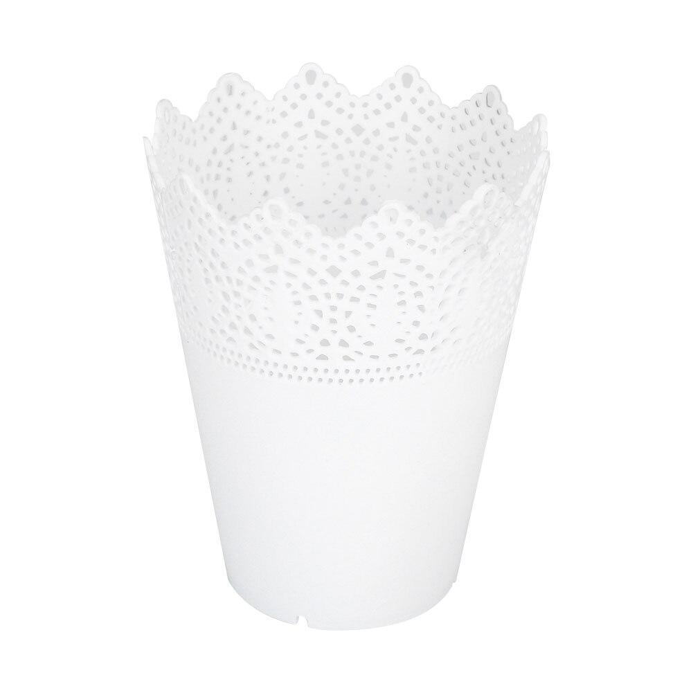 1 шт/10 шт пластиковое домашнее украшение для стола аккуратный держатель офисные цветочные горшки Экономичные для суккулентов кружевная ваза для цветов цветочный горшок ваза