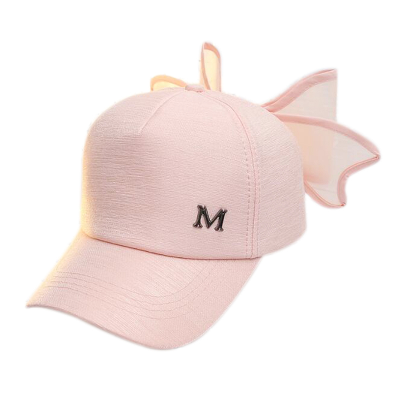 Honesty Khgdnor Lovely M Peak Cap With Bow Knot Summer Breathable Girls Fashion Hat Sweet Pink Big Bowknot Hip-hop Cap To Rank First Among Similar Products Women's Baseball Caps