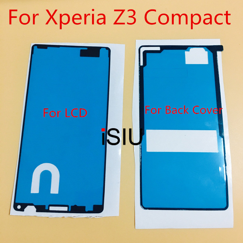 2pcs /Set For Sony Xperia Z3 Compact Adhesive Glue LCD + Back Glass Cover Adhesive Sticker Glue Xperia Z3 Mini D5803 D5833 Parts