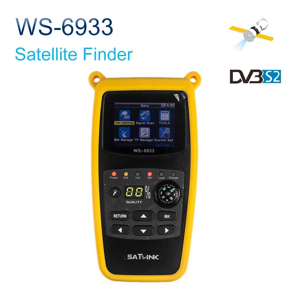 Satxtrem Satlink WS-6933 Digital Satellite Finder DVB-S2 FTA 2.1 Inch LCD Display 800mAh Battery Satlink 6933 SatFinder WS6933 цена и фото