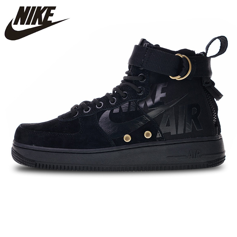 US $126.7 30% OFF|Nike SF Air Force 1 Utility Mid Skateboarding Shoes Sneakers Sports Black for Men 917753 002 40 45 in Skateboarding from Sports &