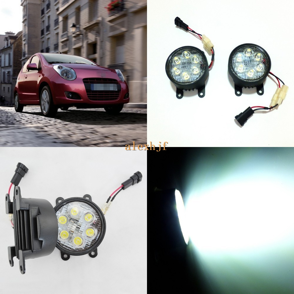 July King 18W 6LEDs H11 LED Fog Lamp Assembly Case for Suzuki Alto 2008+ A-star 2009+, 6500K 1260LM Daytime Running Lights