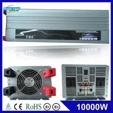10000 W 10000 ואט רכב אוטומטי כוח מהפך טהור סינוס גל DC 12v 24v ל ac 220v 110v ממיר מתאם עם USB מטען