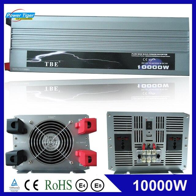 Автомобильный инвертор с синусоидальной волной, 10000 Вт, постоянный ток 12 В 24 В в переменный ток 220 В 110 В, адаптер с USB зарядным устройством
