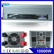 Inversor de potencia automático para coche, 10000 W, 10000 vatios, onda sinusoidal pura de cc 12v 24v a CA 220v 110v, Adaptador convertidor con cargador USB