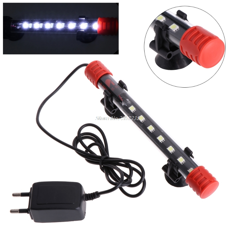 1.5W EU Plug Submersible Waterproof Aquarium Fish Tank LED Light Bar Strip Lamp yy56