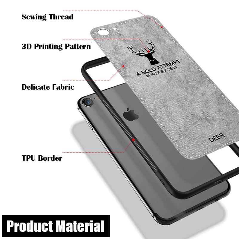 KIP71169_9_JONSNOW For iPhone 7 Cloth Texture Leather Soft TPU Case for iPhone X Phone Cover Case for iPhone 6 6S 7P 8 Plus