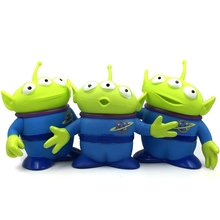 лучшая цена 15cm New Toy Story 4 Woody Green Aliens Action Figure Posture Anime Decoration Collection Figurine Toy model gift