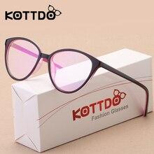 KOTTDO  Fashion Women Cat Eye Eyeglasses Frame Men Optical Glasse Frame Retro Eyeglasses Computer Glasses Transparent glasses