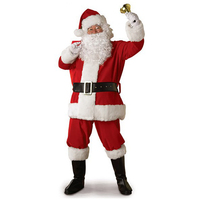 2017 Hot Christmas Arrival Men Santa Claus Costume Christmas Red Cosplay Dress Xmas Costume For Adult