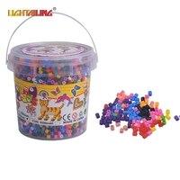 LIGHTAILING 8000PCS Original 5mm Fuse Beads 4 Template Iron Paper Tweezers More Surprises Diy Handmaking Toys