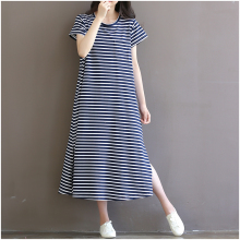Maternity Clothes Short Sleeve Summer Dress Pregnant Women Stripe Loose Plus Size Maternity Dresses Hot Pregnancy