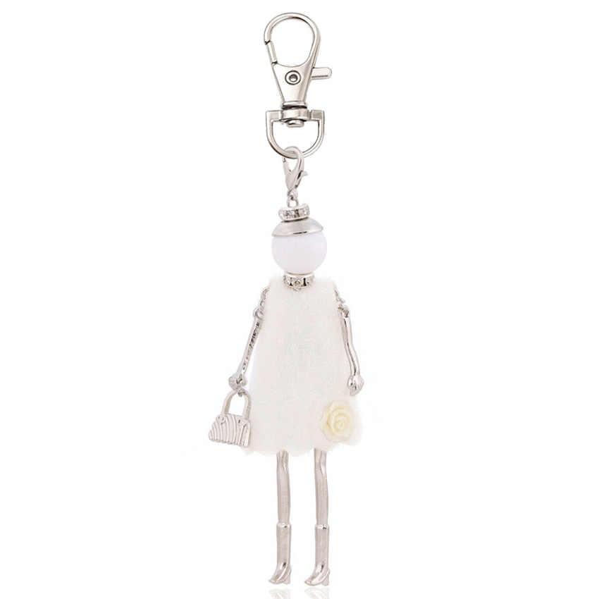 ใหม่แฟชั่นสำหรับผู้หญิง charm key chain กระเป๋าจี้แหวนเครื่องประดับ handmade สาวของขวัญเครื่องประดับ 2019