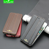 7 Plus Top Quality Brand Flip Genuine Leather Case For IPhone 7 7Plus Luxury Phone Back
