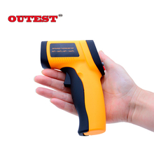Promo offer OUTEST Digital infrared GM550 Thermometer Adjustable Emissivity Pyrometer laser Thermometer Outdoor thermomet-50-550C(-58-1022F)