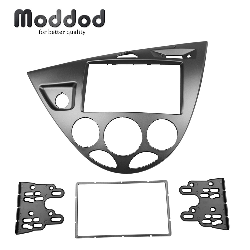 Double Din Car Radio Fascias For Ford Fiesta Focus Left Hand Drive Dash Refitting Installation Trim Kit GPS DVD Frame CD Bezel