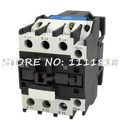 24V Coil Motor Controler AC Contactor 3 Pole NO N/O 660V 15KW CJX2-3210 380v coil motor controler ac contactor 3 pole no n o 660v 15kw cjx2 3210