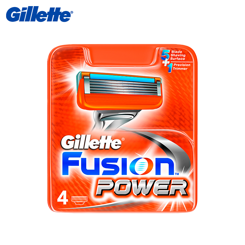 Replacement cartridges for Gillette Fusion Power, 4 pcs nbr anti collision angle guard for kids grey 4 pcs