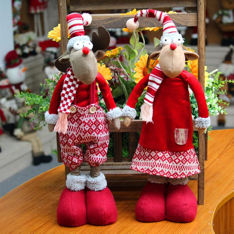2017 Marry Christmas Craft Plush Deer Model Doll Cotton Stuffed Action Figures Soft Toy Animals For Children Kid Christmas Gift women real genuine leather thin high heels shoes brand sexy fashion pumps heeled footwear shoes size 33 39 r08345