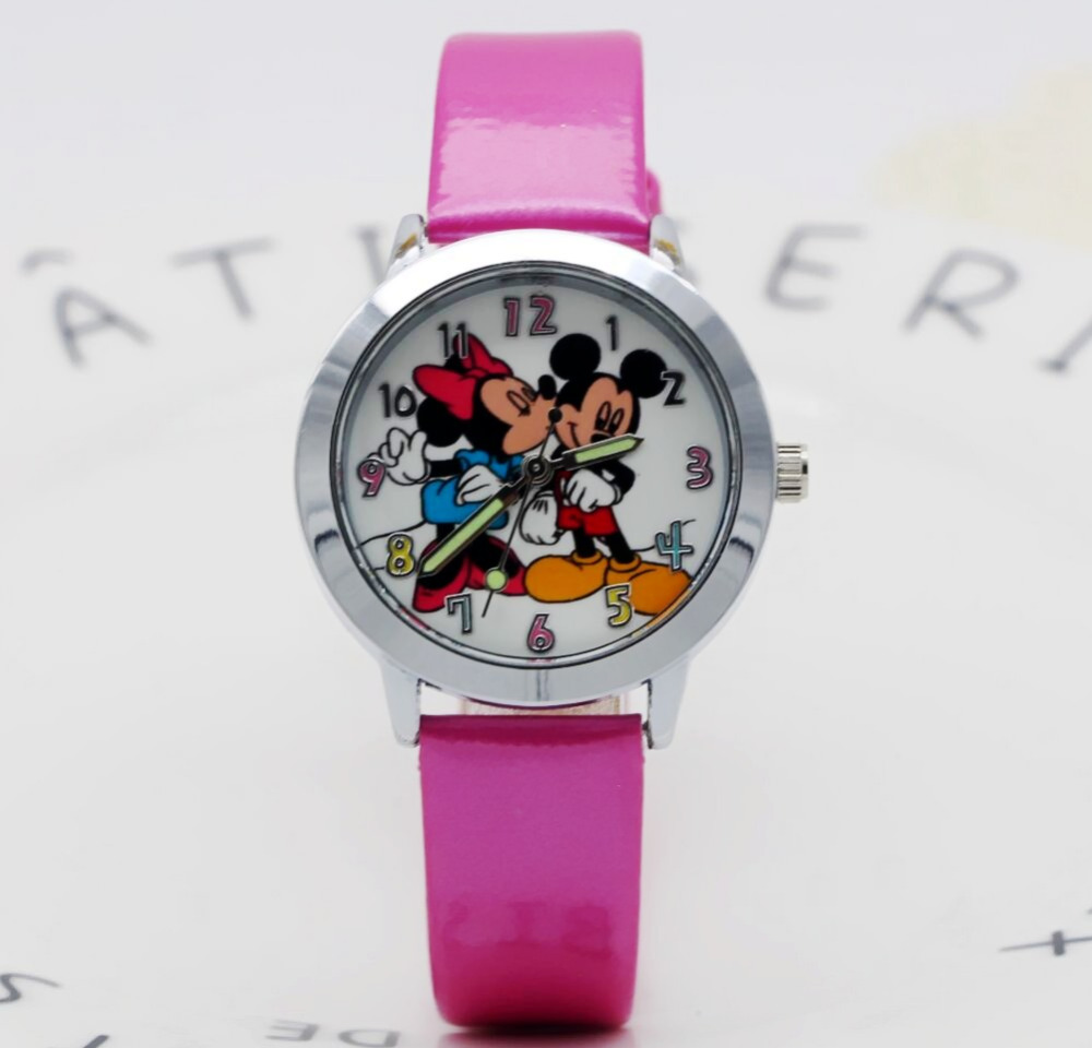 New 2019 Fashion Cool Mickey Cartoon Watch For Children Girls Leather Digital Watches For Kids Boys Christmas Gift Wristwatch Invigorating Blood Circulation And Stopping Pains Watches