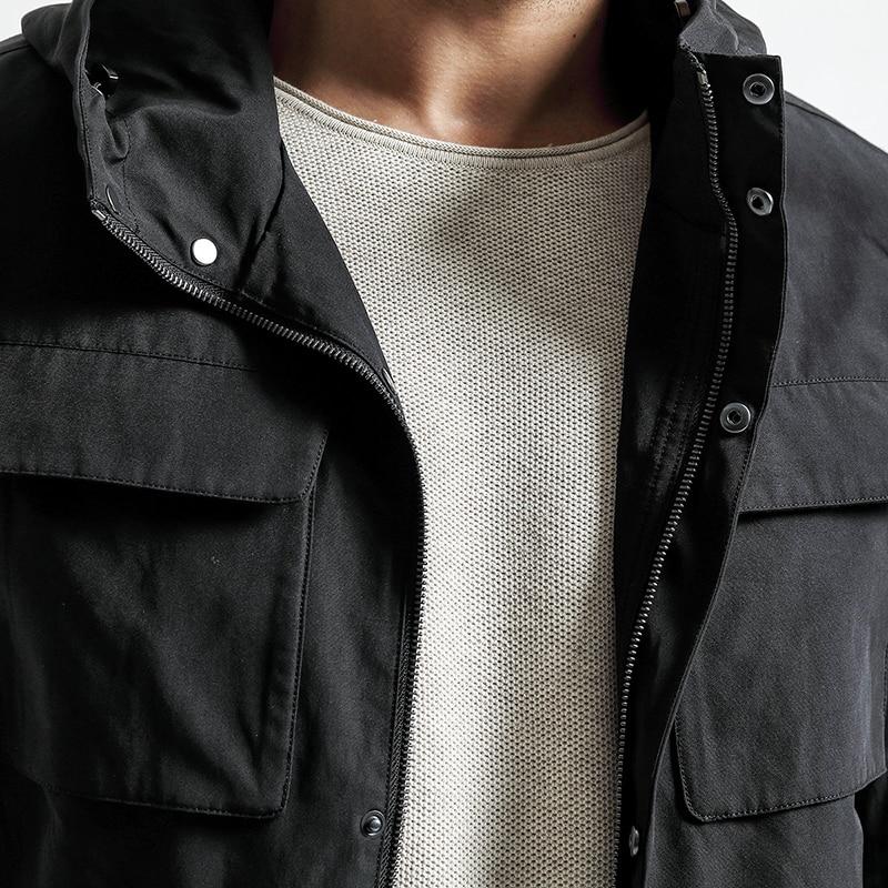 Erkek Kıyafeti'ten Ceketler'de SIMWOOD 2019 sonbahar Yeni Ceketler Erkekler Cepler Moda Askeri Ceket Rüzgarlık Rahat Mont Slim Fit Artı Boyutu JK017008'da  Grup 2