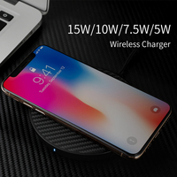 15W Fast Wireless Charger for iPhone XS Max/XS Nillkin Qi Fast Wireless Charging Pad For Samsung Note9 S9 S8Plus Newest Fiber