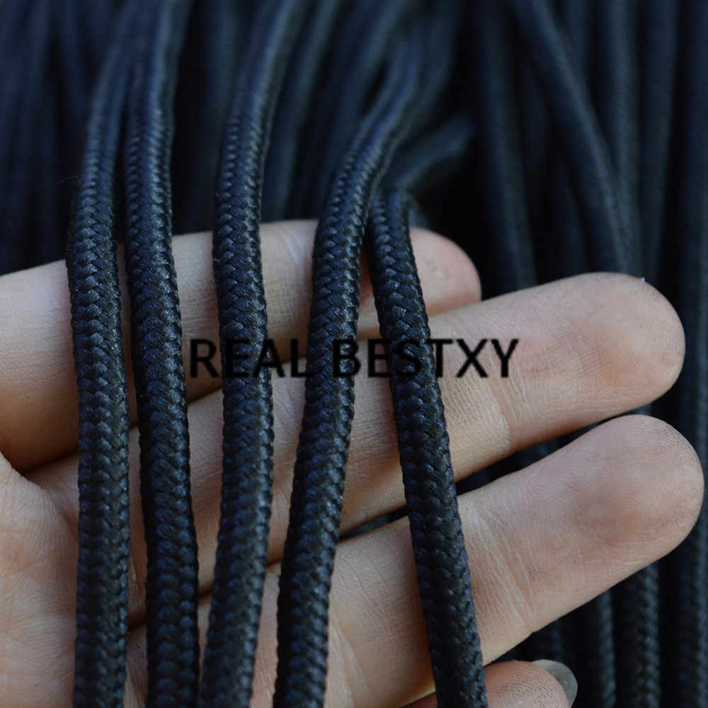 REAL BESTXY 20m/lot  4mm black Paracord  Cord Lanyard Rope DIY Bracelet Accessories black nylon rope for bracelets making rope